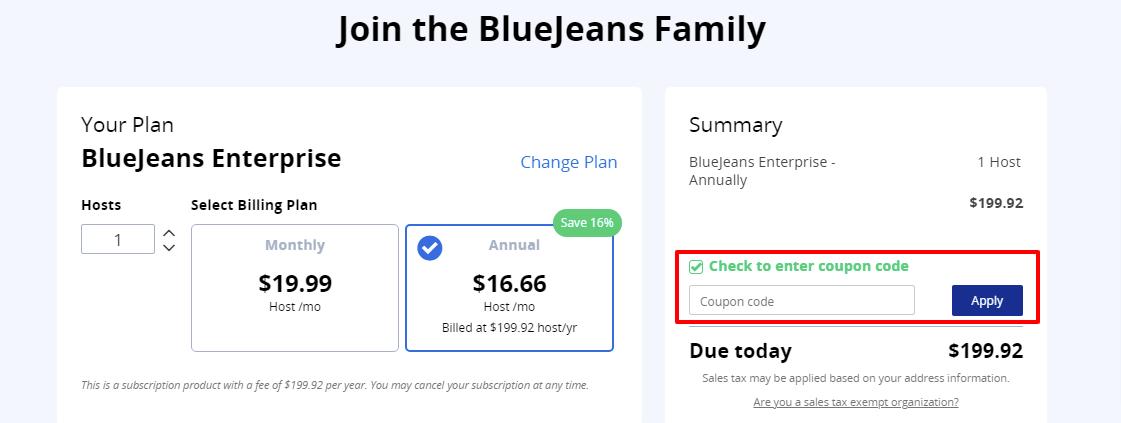 Checkout Bluejeans