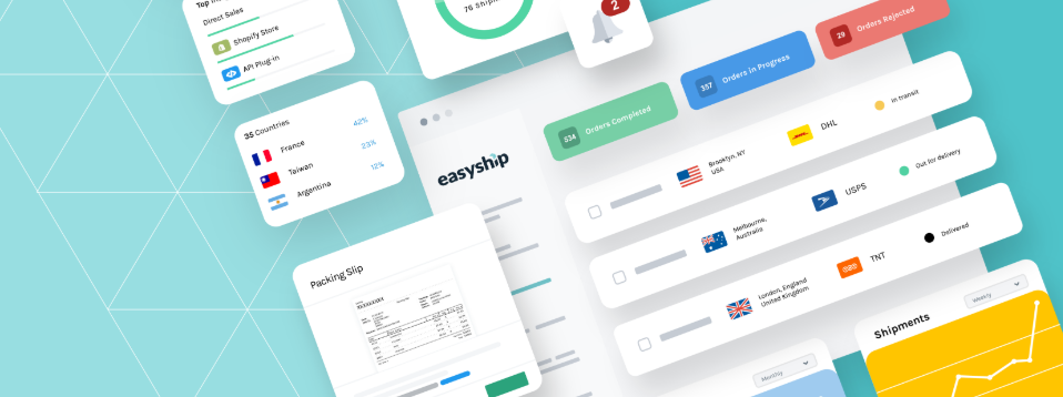 About Easyship homepage