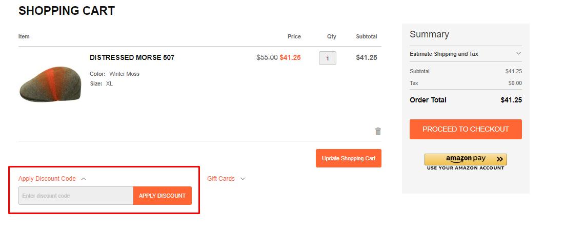 How do I use my Hats.com discount code?