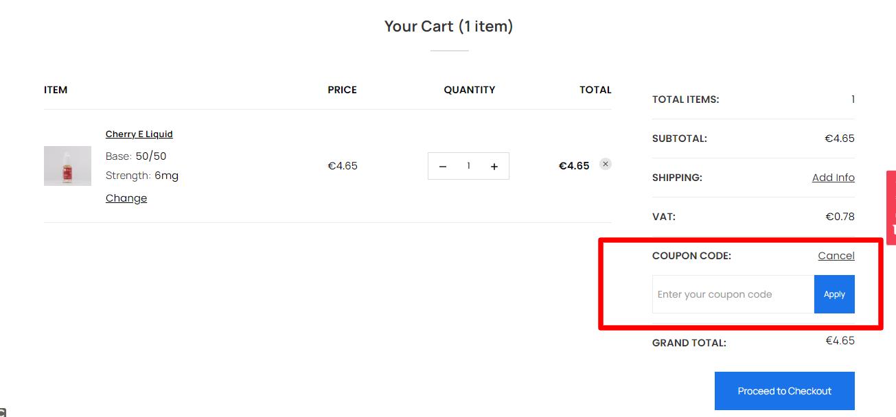 How do I use my JAC VAPOUR coupon code?