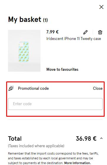 How do I use my Bershka promotional code?