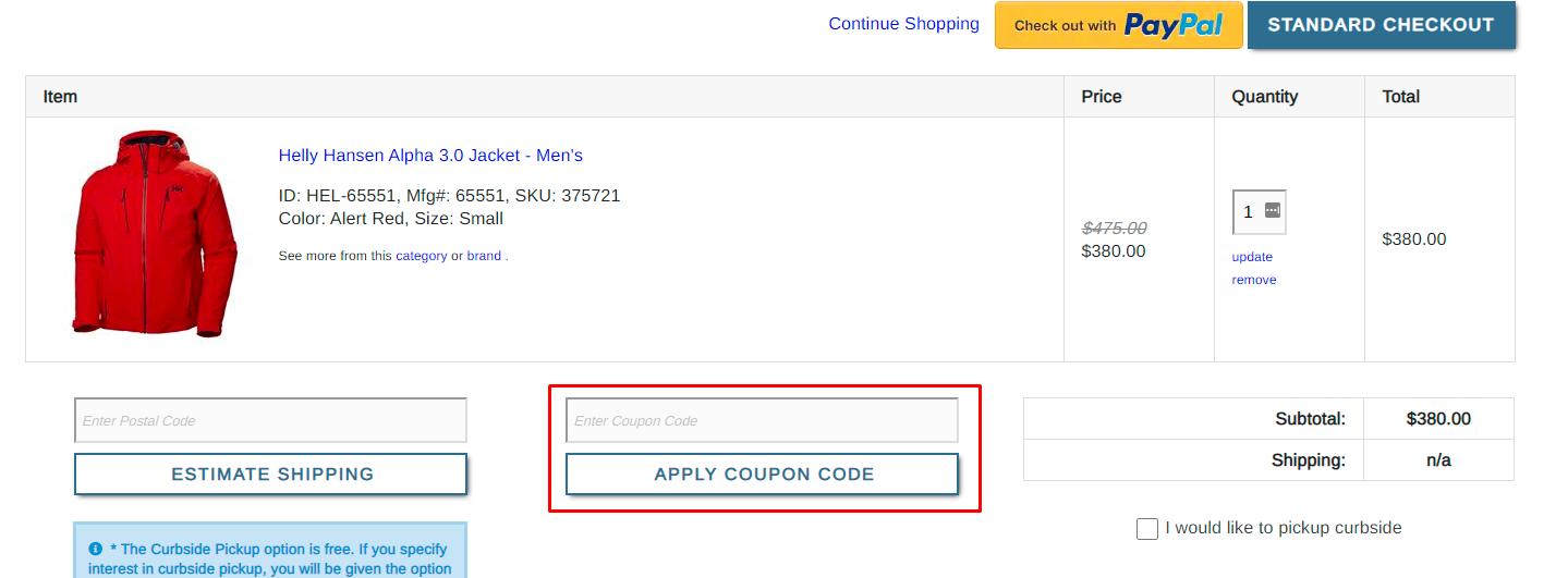 How do I use my Buckmans coupon code?