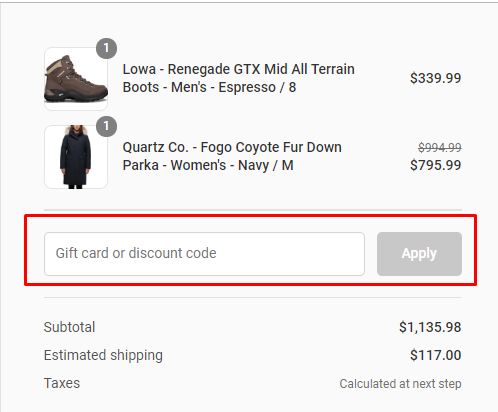 How do I use my Altitude Sports discount code?
