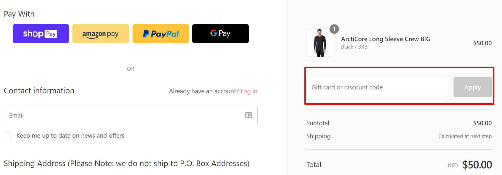 How do I use my Cuddl Duds discount code?
