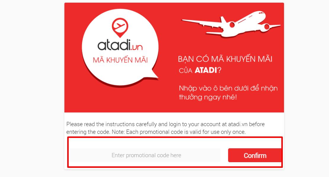 How do I use my Atadi promotional code?
