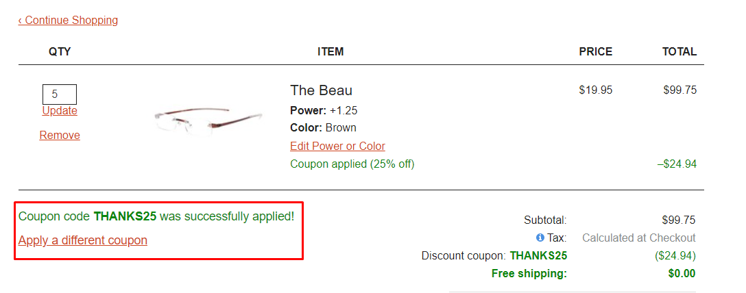 How do I use my Readers coupon code?