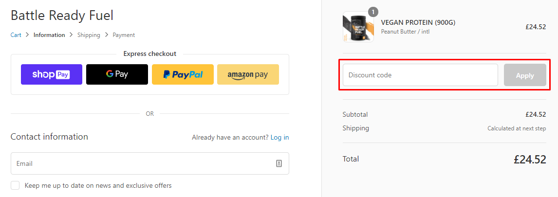 How do I use my Battle Ready Fuel discount code?
