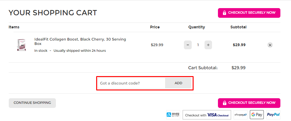 How do I use my IdealFit discount code?