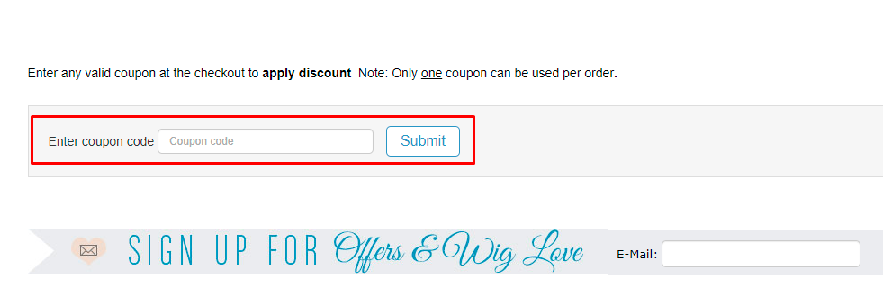 How do I use my Natural Image Wigs coupon code?