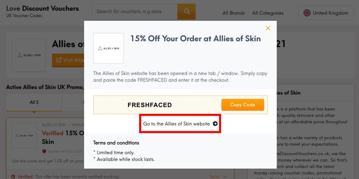Allies of Skin UK Get Code