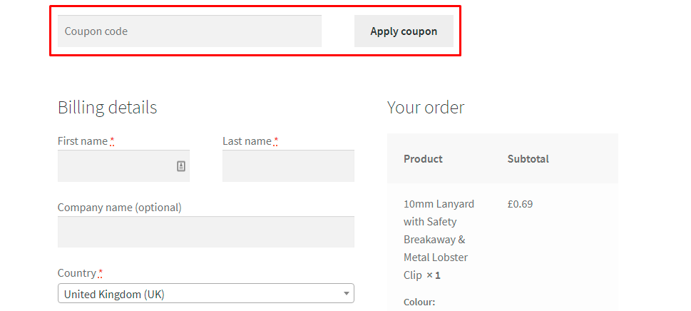 How do I use my The Lanyard Shop coupon code?