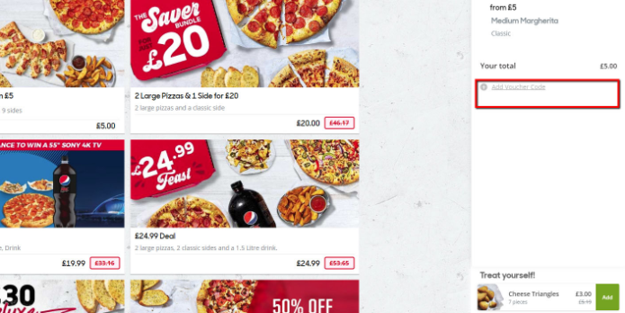 How do I use my Pizza Hut discount code?