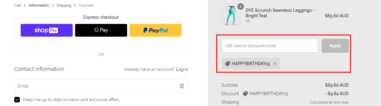 How do I use my DOYOUEVEN discount code?