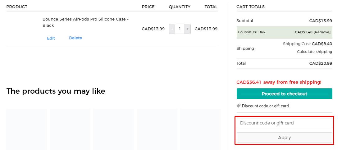 How do I use my ESR discount code?