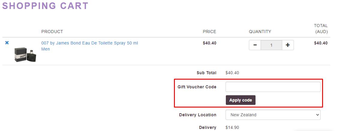 How do I use my Perfume.com.au voucher code?