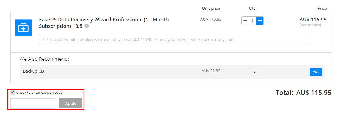 How do I use my EaseUS coupon code?