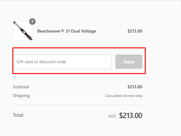 How do I use my The Beachwaver Co discount code?