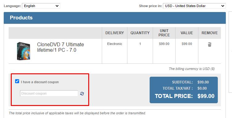 How do I use my CloneDVD discount code?
