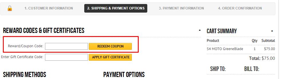 How do I use my Headblade coupon code?