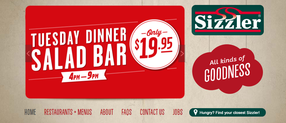 Sizzler Homepage