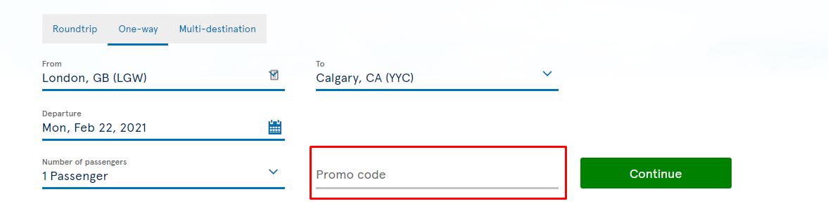 How do I use my Air Transat promo code?