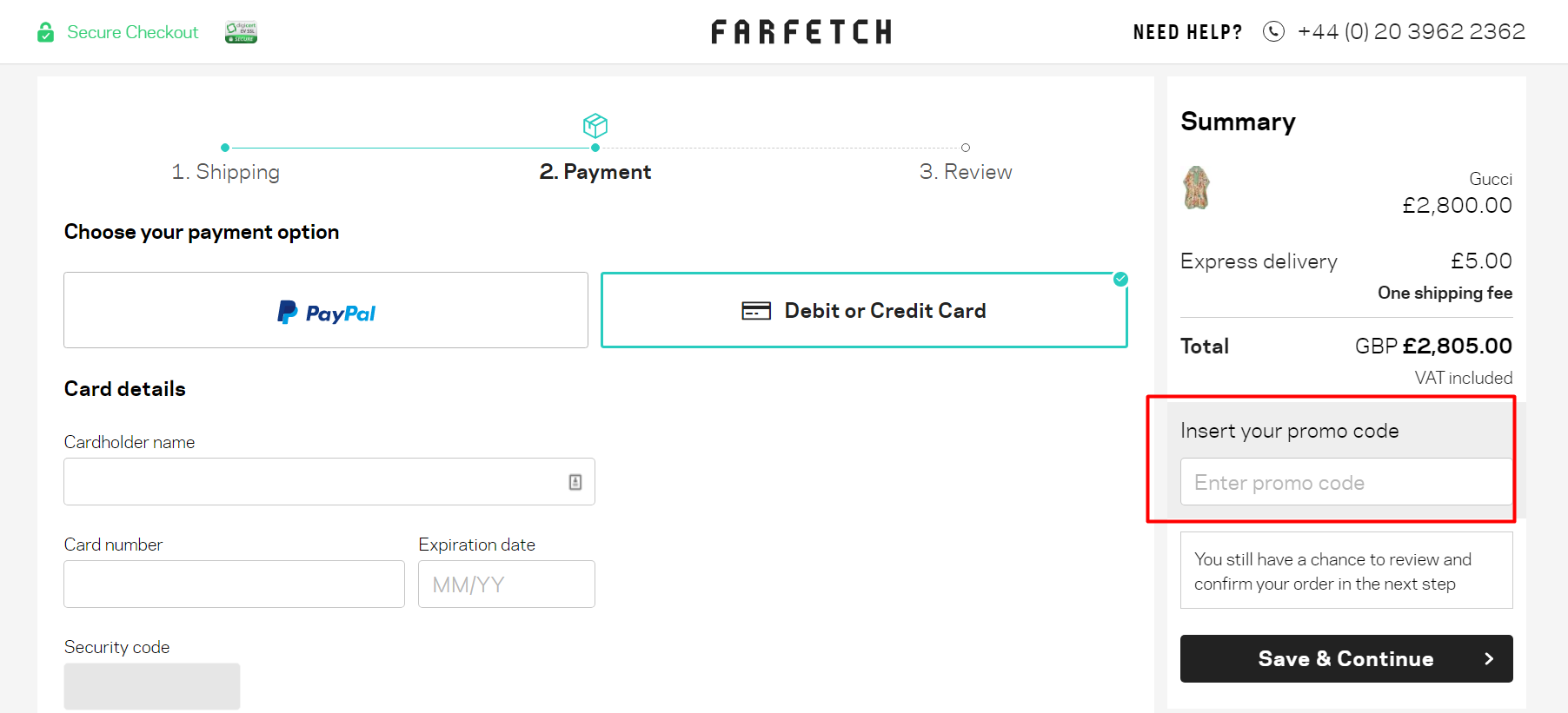 How do I use my Farfetch discount code?