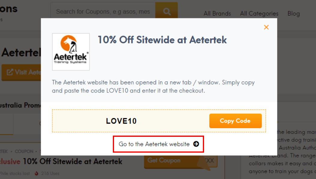 How do I use my Aetertek discount code?