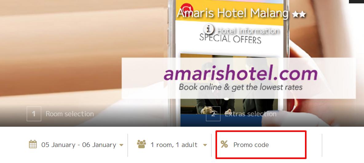 How do I use my Amaris Hotel promo code?