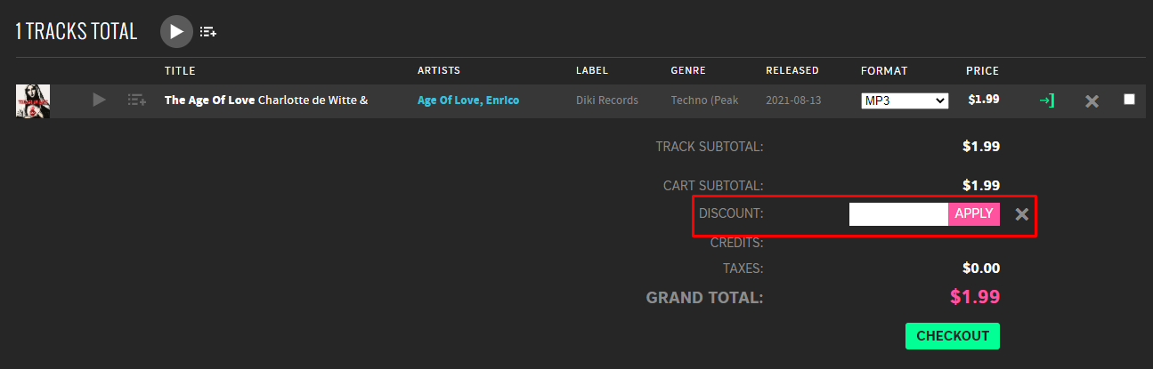 How do I use my Beatport discount code?
