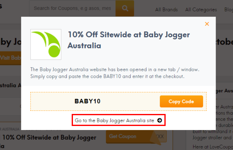 go to Baby Jogger Australia site