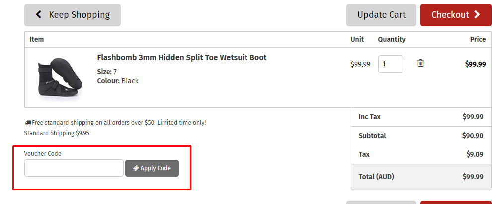 How do I use my Rip Curl voucher code?