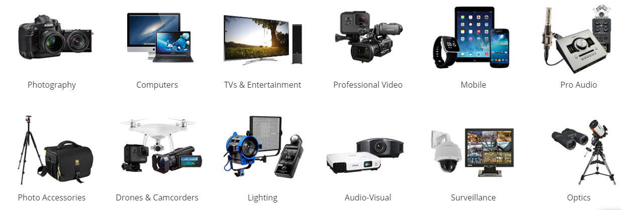 About B&H Photo Video Homepage