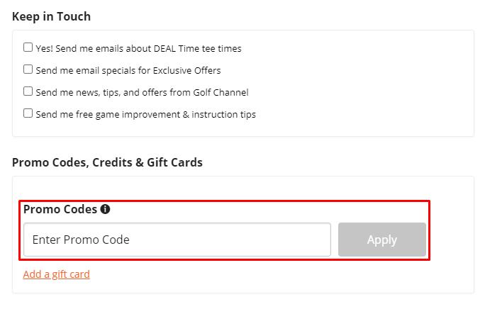 How do I use my TeeOff promo code?