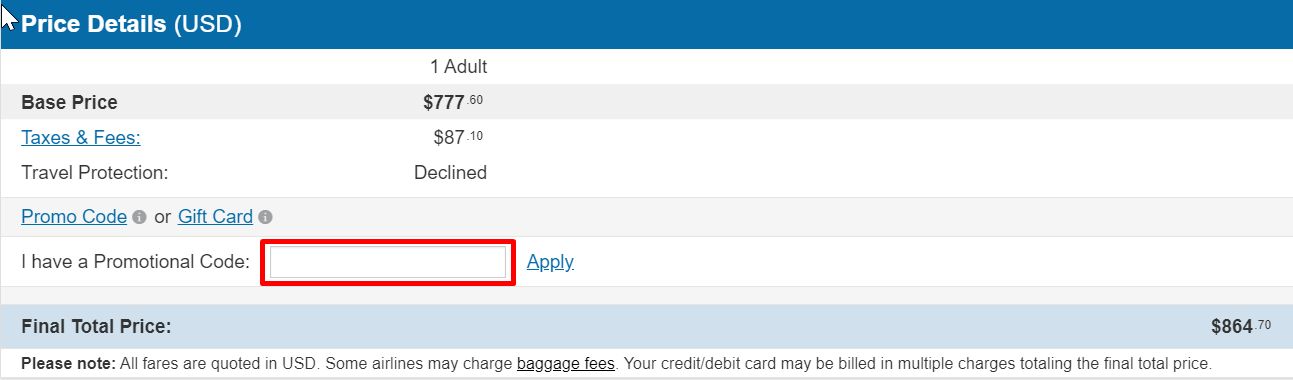 How do I use my CheapOair discount code?