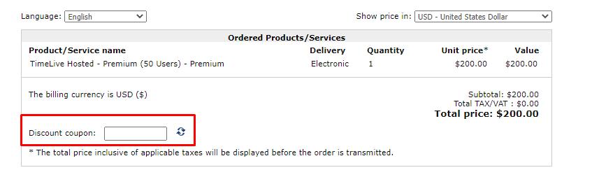 How do I use my Livetecs discount code?