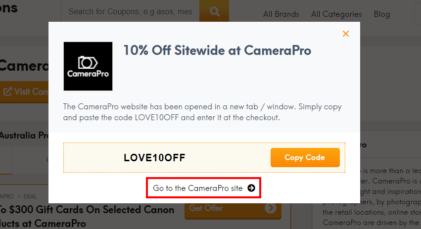 how to use CameraPro discount code?
