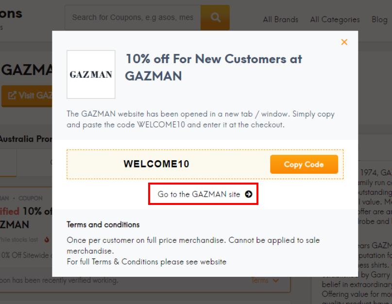 go to GAZMAN site