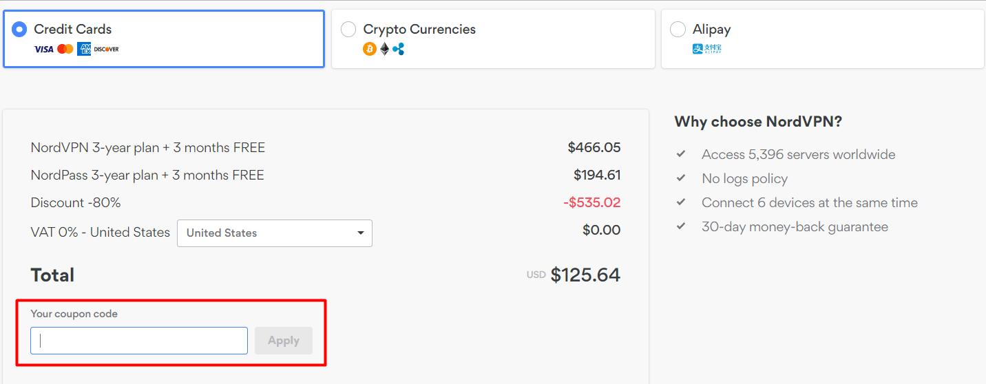 How do I use my NordVPN discount code?