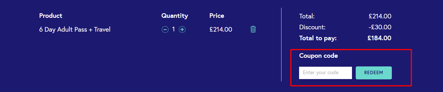 How do I use my The London Pass discount code?