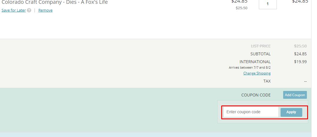 How do I use my Scrapbook.com coupon code