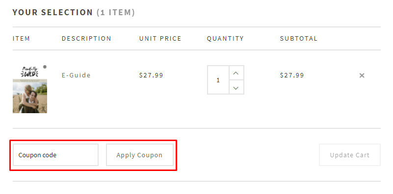 How do I use my Less Stuff - More Meaning coupon code?