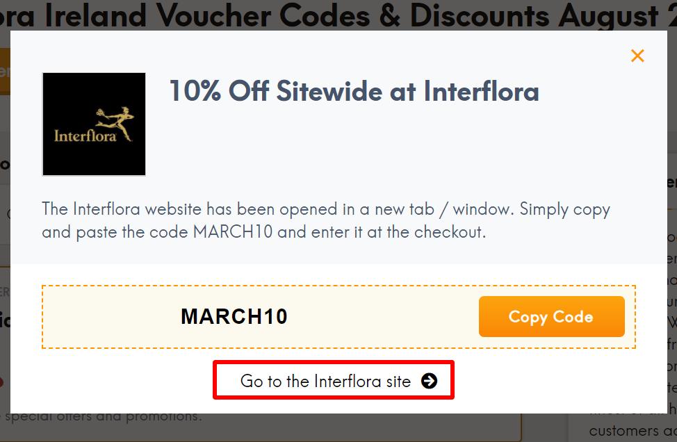 Interflora IE go to