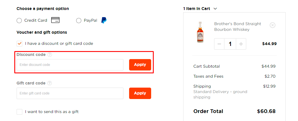 How do I use my Caskers discount code?