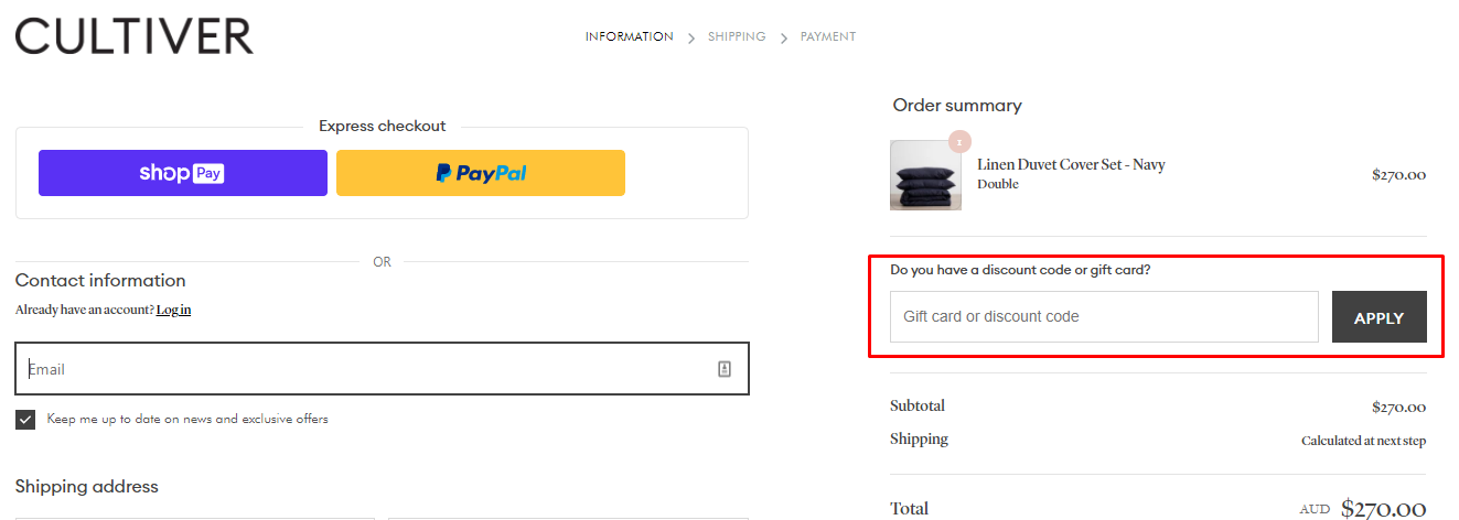 How do I use my Cultiver discount code?