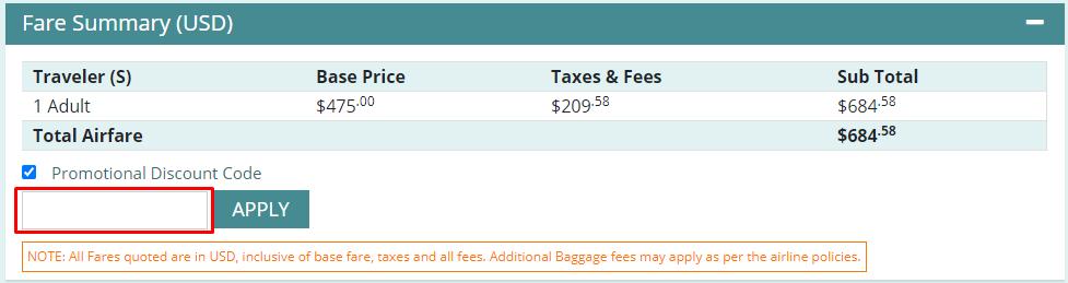 How do I use my Cheapfaremart coupon code?