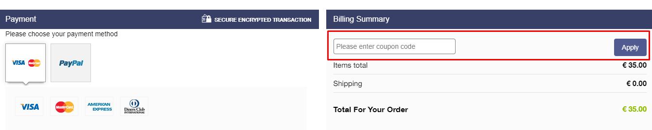 How do I use my Aspiga coupon code?