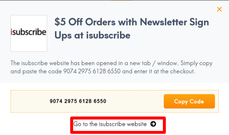 iSubscribe Discount Code LC site