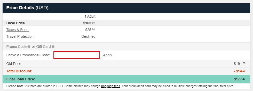 How do I use my One Travel discount code?