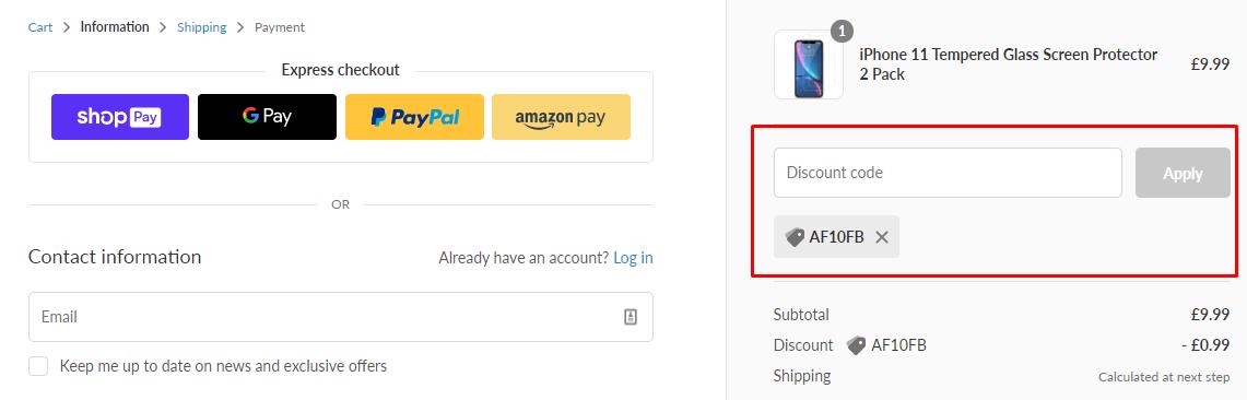 How do I use my Finest Bazaar discount code?