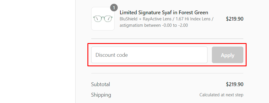 How do I use my Foptics discount code?